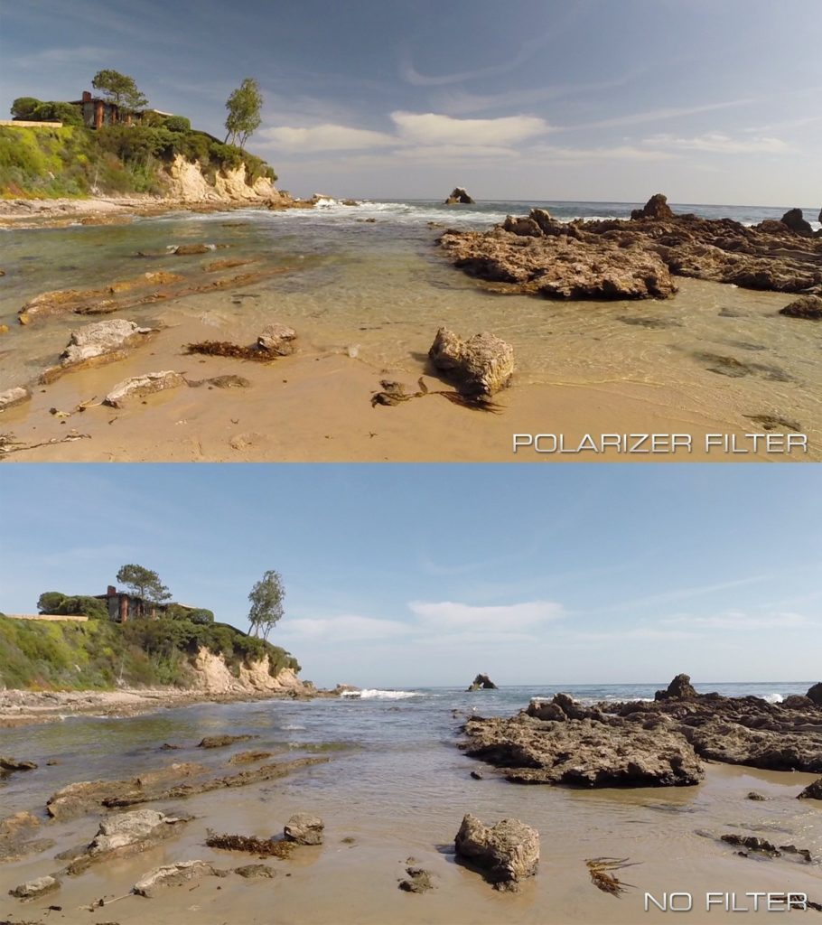 What does a polarizer filter do